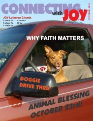 Newsletter 10-10 - JOY Lutheran Church