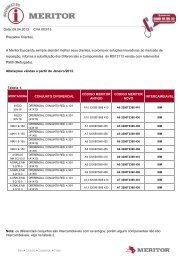 Substituição dos rolamentos DIFERENCIAL MS13113 - Meritor
