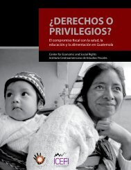 Â¿Derechos o privilegios? - Center for Economic and Social Rights
