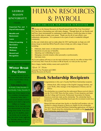 End-of-The-Year Newsletter - Human Resources and Payroll