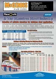 Selection of suitable abrasives for stainless steel ... - McGinns