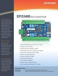 ENTRYPASS EP.S3400Door Control Panel - Bricomp Technologies ...
