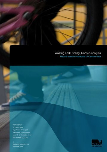 Walking and Cycling: Census analysis - Department of Transport