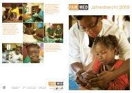 Jahresbericht 2009 - Fairmed