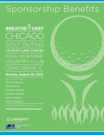 Sponsorship Benefits ChICago - LUNGevity Foundation