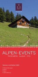 Alpen-events - Liechtenstein Tourismus