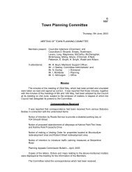 Town Planning Committee - Meetings, agendas and minutes