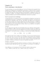 Chapitre 10 Tests statistiques: introduction - IUMSP