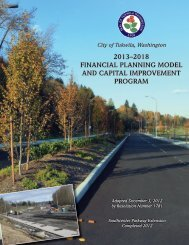 2013–2018 financial planning model and ... - the City of Tukwila