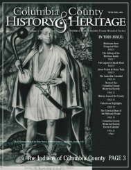 IN THIS ISSUE - Columbia County Historical Society