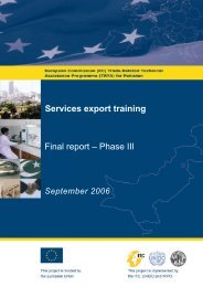 Final report – Phase III Services export training - TRTA i