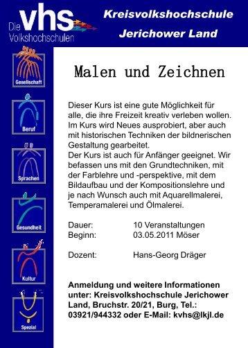 """""""Malen und Zeichnen"""" der Kreisvolkshochschule Jerichower Land"""