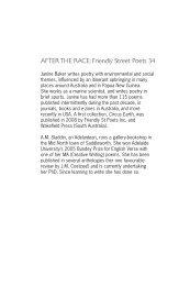 AFTER THE RACE: Friendly Street Poets 34 - Wakefield Press