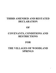 Third Amended and Restated Covenants, Conditions & Restrictions