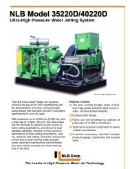 Why use high-pressure water?