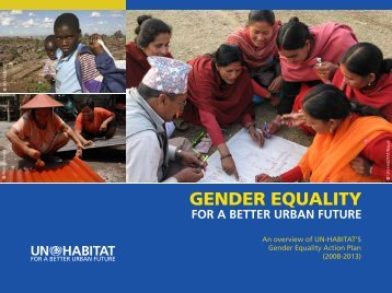 GENDER EQUALITY - UN-Habitat