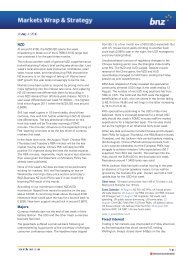 BNZ Daily FX Wrap and Strategy [New Zealand 19-8-2013]