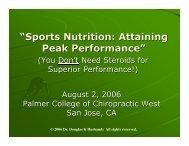 Sports Nutrition 08-02-06.pdf - Holistic Health Bay Area
