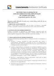 ROTEIRO PARA ELABORAÇÃO DE ESTUDO AMBIENTAL ... - cetesb
