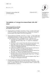 Återkallelse av Carnegie Investment Banks tillstånd