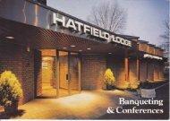 Hatfield Lodge Brochure - Beales Hotels