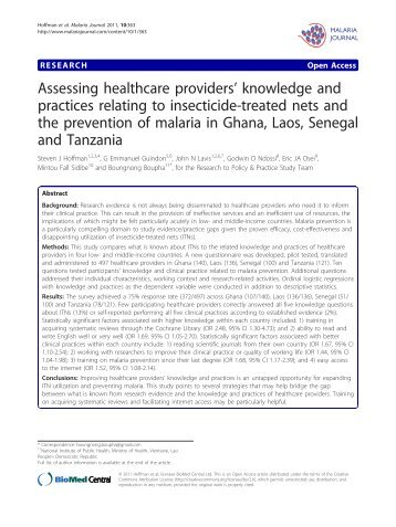 Assessing healthcare providers' knowledge and practices relating to ...