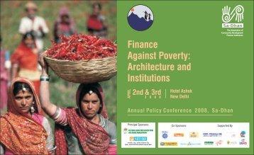 Policy Conference Brochure - Sa-Dhan