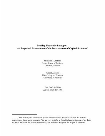 An Empirical Examination of the Determinants of Capital Structure