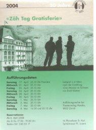 programmheft - Theatergruppe St. Karl