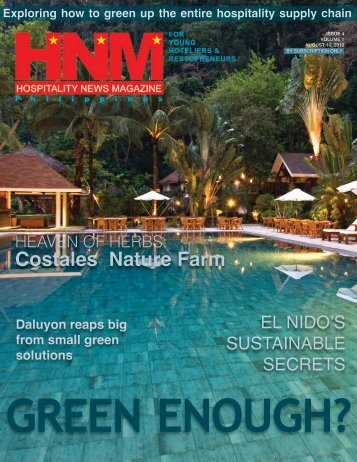 ZCR featured in Hospitality News Magazine - Zero Carbon Resorts