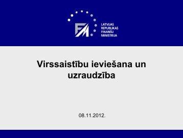 Virssaistību ieviešana un uzraudzība - ES fondi