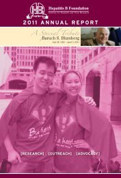 2011 ANNUAL REPORT - Hepatitis B Foundation