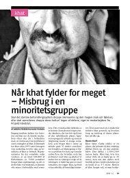 Når khat fylder for meget – Misbrug i en minoritetsgruppe - Stof
