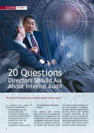 20 Questions Directors Should Ask About Internal Audit - Singapore ...