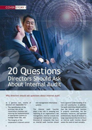 20 Questions Directors Should Ask About Internal Audit - Singapore ...