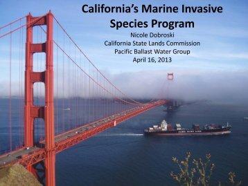 California's Marine Invasive Species Program - Pacific States Marine ...