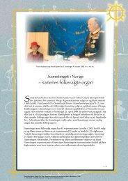 Sametinget i Norge – samenes folkevalgte organ