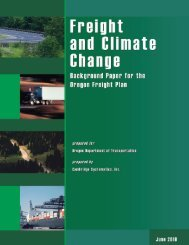 Oregon Freight and Climate Change Background ... - State of Oregon