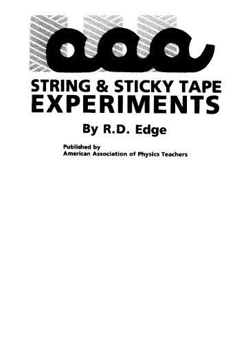 STRING & STICKY TAPE EXPERIMENTS - Vidya Online