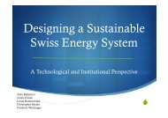 Designing a Sustainable Swiss Energy System ... - EnergyPLAN