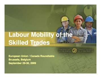 Labour Mobility of the Skilled Trades