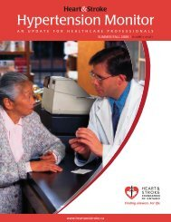 Summer/Fall 2008 Volume 3 Issue 1 - Heart and Stroke Foundation ...