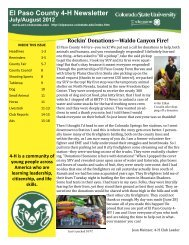 July/August - El Paso County Extension - Colorado State University