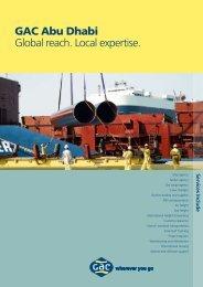 GAC Abu Dhabi Global reach. Local expertise.