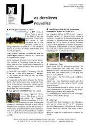 L es dernières nouvelles - Le Centre Forestier de la région ...