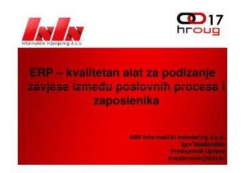 ERP – kvalitetan alat za podizanje zavjese između ... - HrOUG