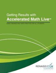 Getting Results with Accelerated Math - Renaissance Learning