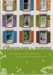 livret Observons la Nature - Tela Botanica