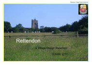 Rettendon Village Design Statement - Chelmsford Borough Council
