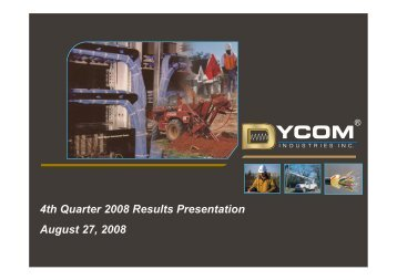 Dycom Industries Inc. - Rational Investing